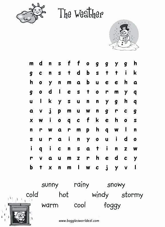 Weather Worksheets for 2nd Grade 4th Grade Weather Worksheets