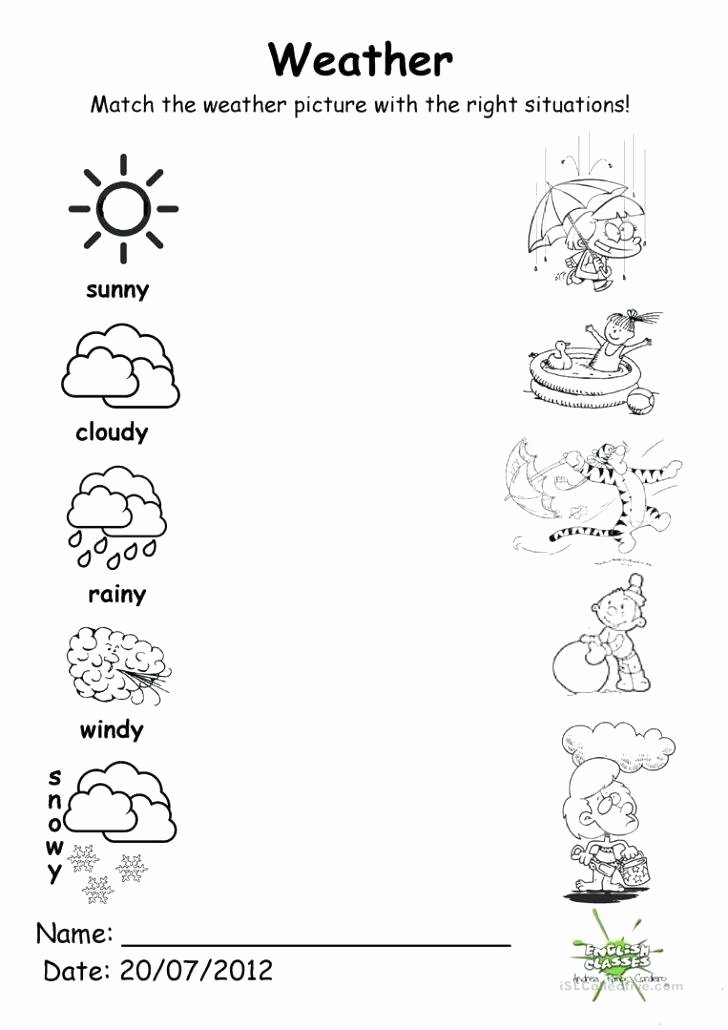 Weather Worksheets for 2nd Grade Resources Science Weather Worksheets Weather Printable
