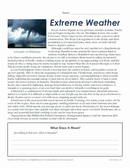 Weather Worksheets for 2nd Grade Temperature Worksheets for Grade Temperature Worksheets