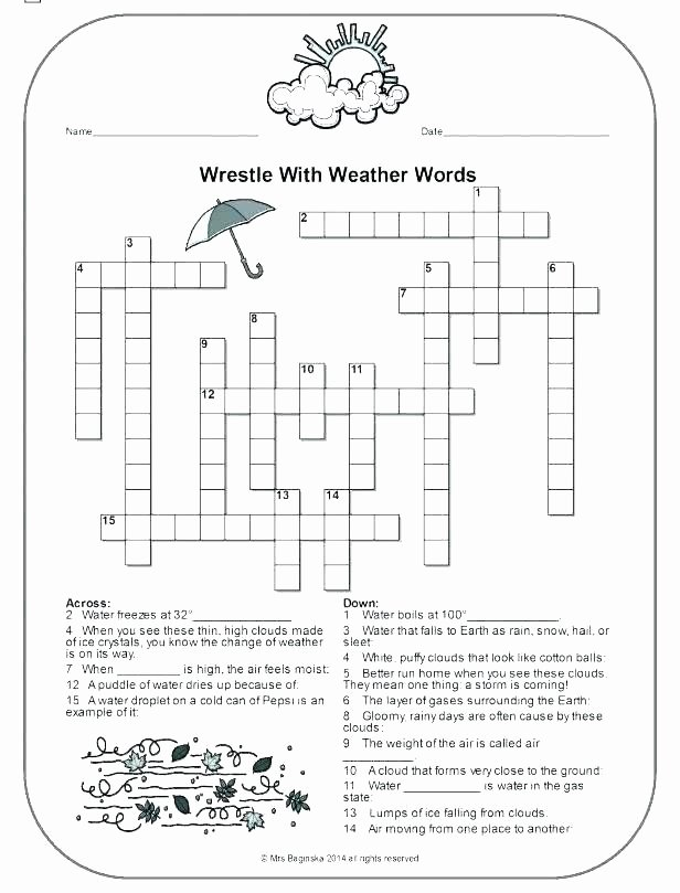 Weather Worksheets for 2nd Grade the Weather Worksheet 4 Version Worksheets for 3rd Grade