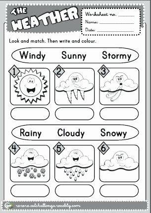 Weather Worksheets for 2nd Grade Weather Worksheets for Grade 2 Worksheets Weather for Grade