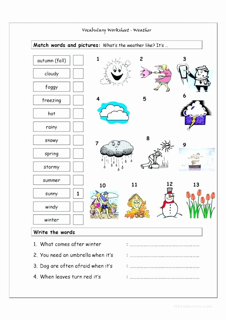 Weather Worksheets for First Graders 4th Grade Weather Worksheets – Charlietylerub