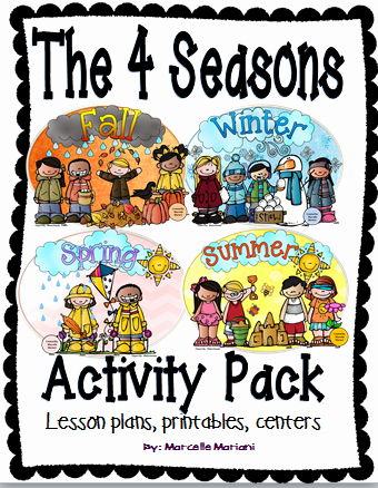 Weather Worksheets for First Graders the 4 Seasons Activities Pack Four Seasons Lesson Plans