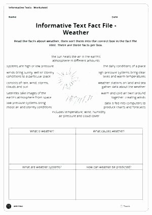 Weather Worksheets for Middle School Weather and Climate Worksheets