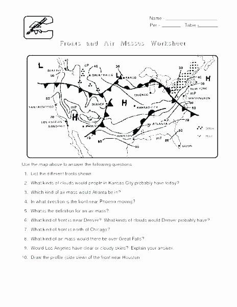 Weather Worksheets for Middle School Weather Prehension Worksheets