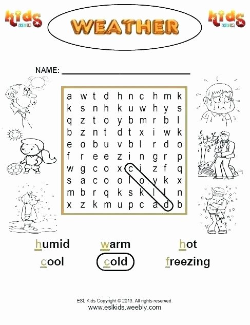 Weather Worksheets for Middle School Weather Worksheets Worksheet Grade the Best Image Collection