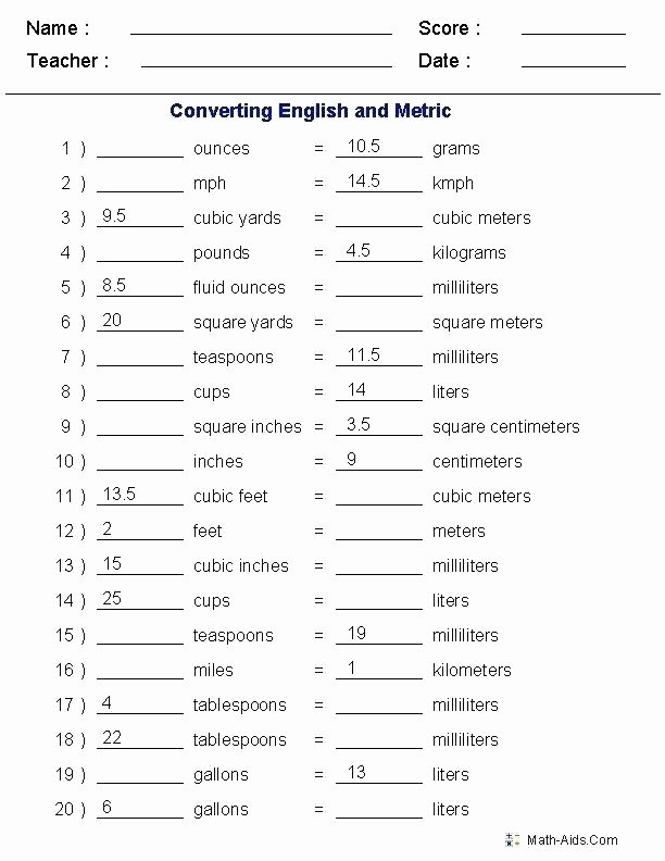 Weight Conversion Worksheets Math Worksheets Converting Measurements – Pzptm