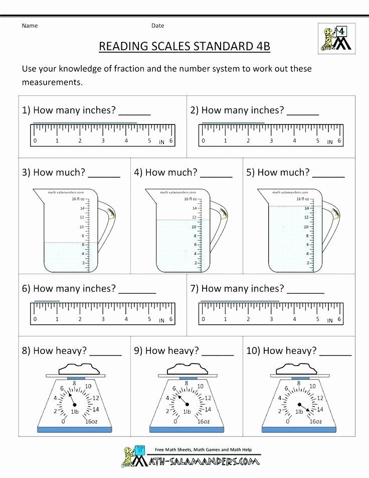Weight Conversion Worksheets Measurement Worksheet Grade 2 Free Math Worksheets Measuring