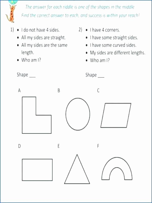 Who Am I Worksheet Answers Best Of 1st Grade Geometry Worksheets