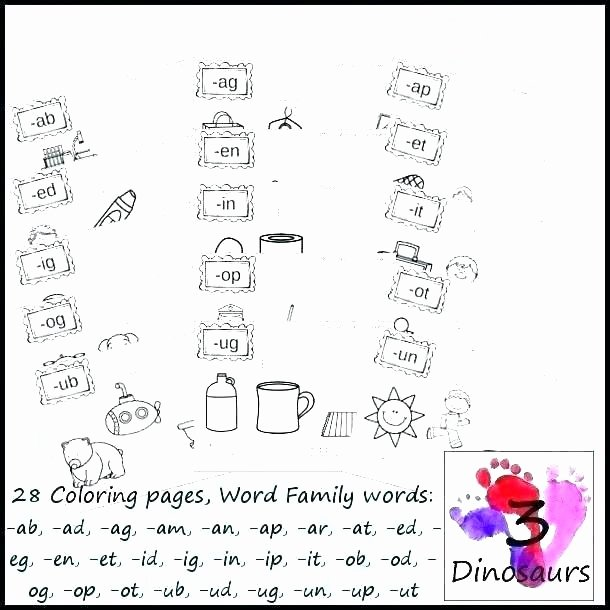 Word Families Worksheets Pdf Ab Word Family Worksheets