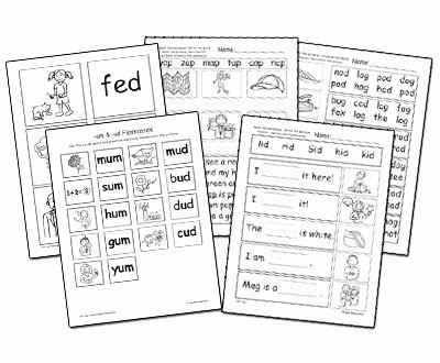Word Families Worksheets Pdf Cvc Vol 2 Individual Word Family Worksheets