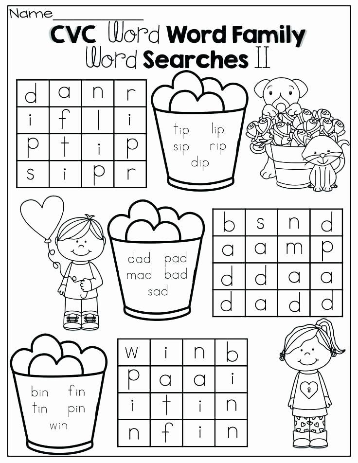 Word Families Worksheets Pdf Cvc Word Family Worksheets