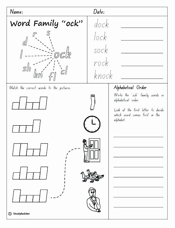 Word Families Worksheets Pdf Word Families Worksheets 3rd Grade