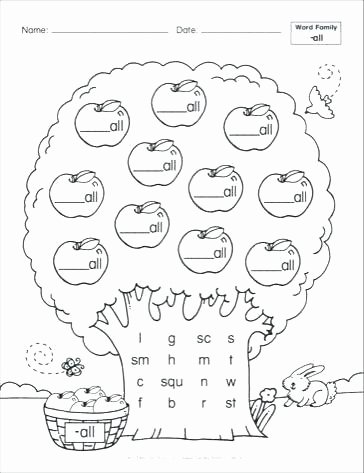 Word Family Worksheet Kindergarten Word Family It Worksheets for Kindergarten