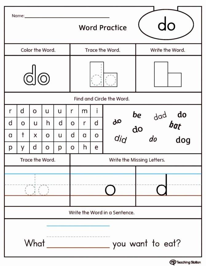 Word Family Worksheet Kindergarten Writing Worksheets Kindergarten Inspirational Free