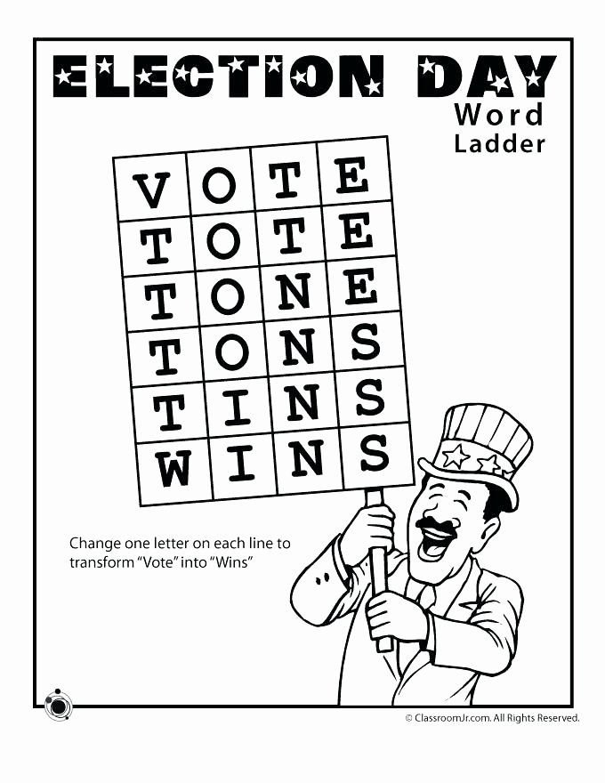 Word Ladder Worksheets Awesome Election Day Worksheets Word Crafts for Election Day