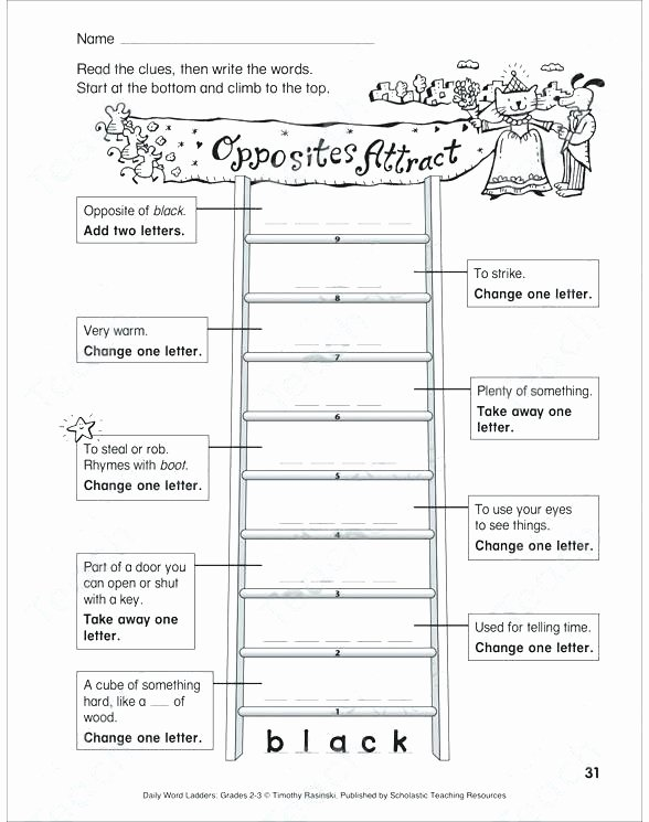Word Ladders Middle School See Inside Image Displays Affection Word Ladder Grades 2