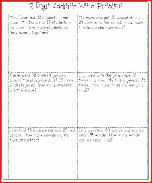 Word Problem Worksheets 1st Grade Addition and Subtraction Word Problems Worksheets First