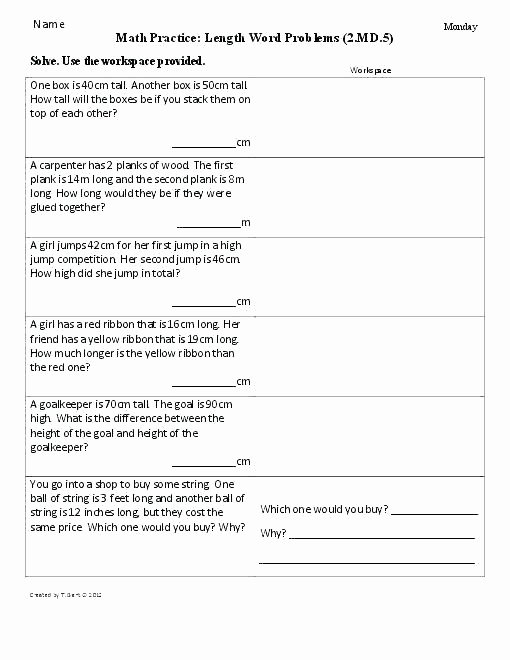 Word Problem Worksheets 1st Grade Subtraction Word Problem Worksheets – Kcctalmavale