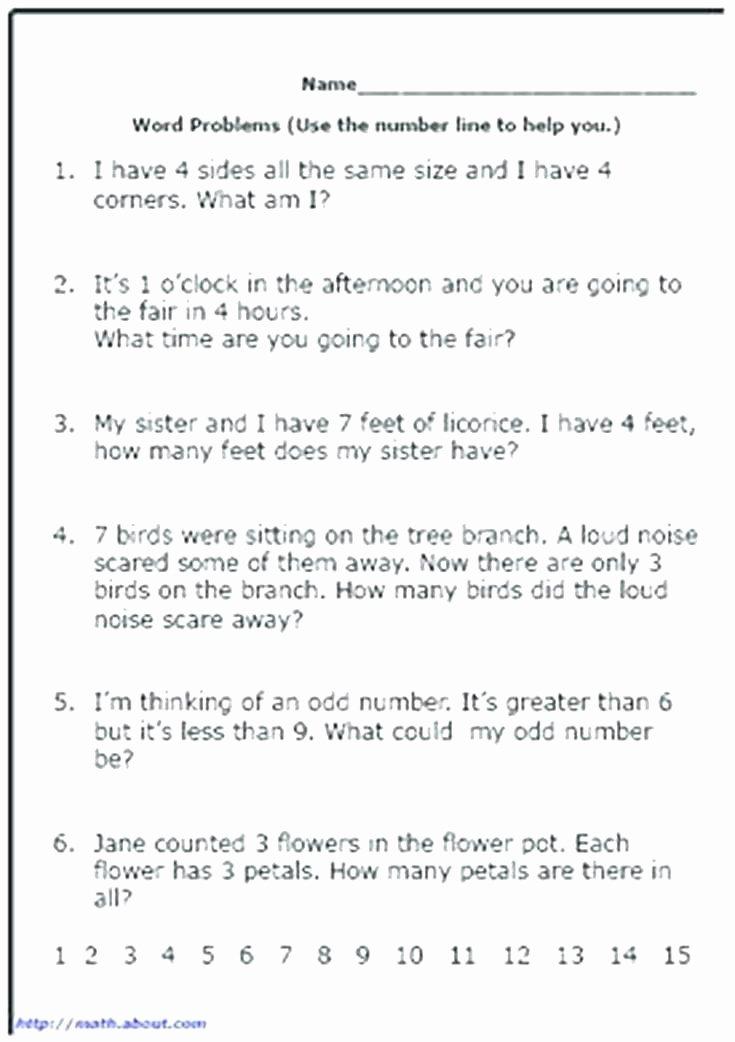 Word Problems for Kindergarten Worksheets Third Grade Fraction Word Problems Worksheets