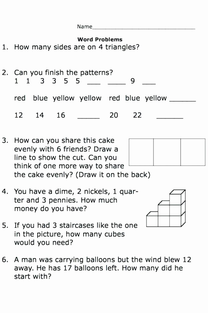 Word Problems Kindergarten Worksheets How Many How Much Worksheets Printable