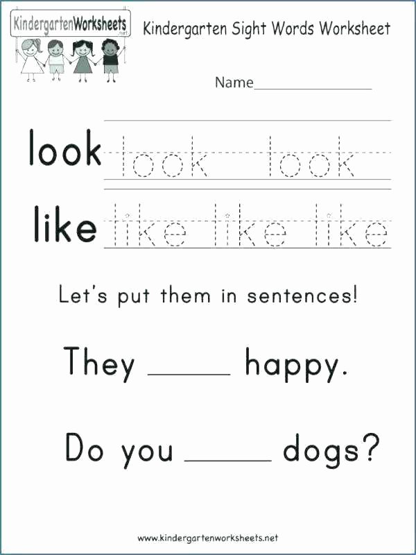 Word Problems Kindergarten Worksheets Kindergarten Word Worksheets Kindergarten Sight Word