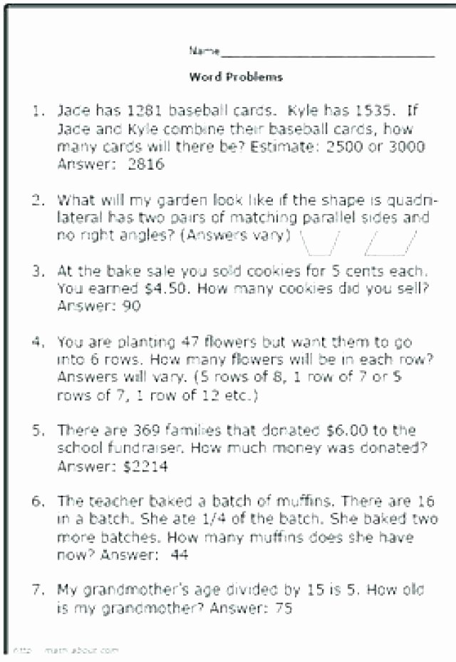Word Problems Worksheets 1st Grade 1th Grade Math Worksheets Free Money Worksheets for Grade
