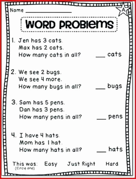 Word Problems Worksheets 1st Grade Maths Problem solving Year 5 Worksheets First Grade Problem