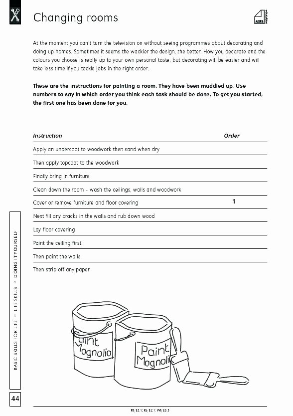Work Skills Worksheets Basic Life Skills Worksheets – Openlayers