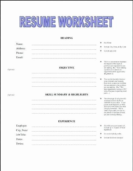 Work Skills Worksheets Career Worksheets Career Lesson Plans for High School