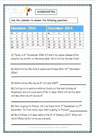 Worksheet Works Calendar Awesome Calendar Worksheets for Grade Number the Day Worksheet