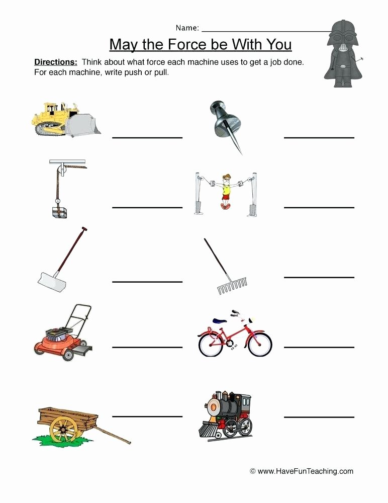 Worksheets On force and Motion Worksheets Energy – butterbeebetty