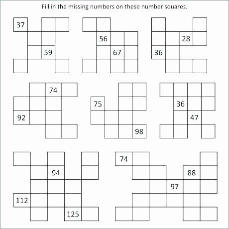 Write the Missing Numbers Worksheet Missing Number Worksheets 2nd Grade