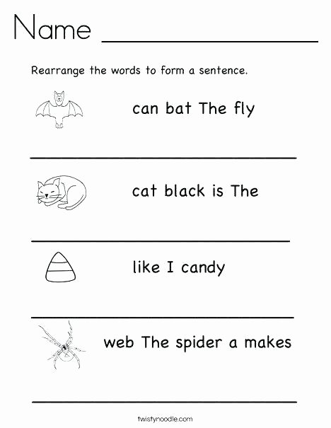 Writing Sentences Worksheet Sentence Worksheets Kindergarten Pound Sentences Practise
