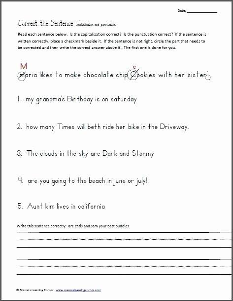 Writing Sentences Worksheets 3rd Grade Proofreading Worksheets 3rd Grade Great Free Unique Best