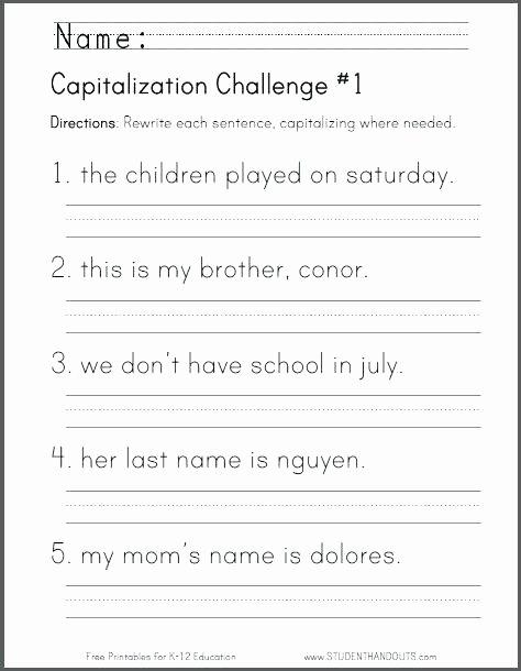 Writing Sentences Worksheets 3rd Grade Writing Sentences Worksheets for Grade for Learning A Free