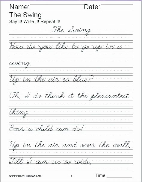 Writing Sentences Worksheets Cursive Writing Sentences Worksheets