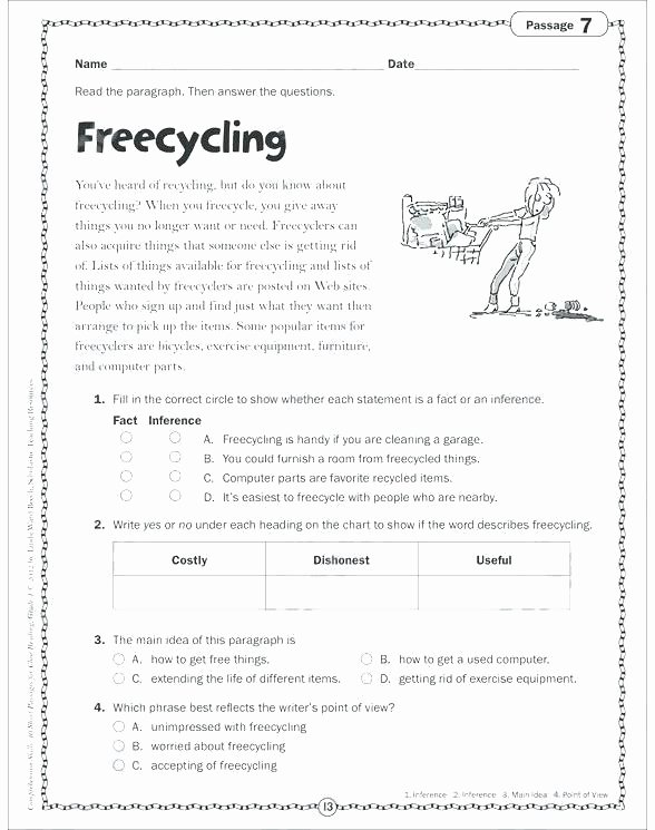 Writing Sheets for 1st Graders Point Of View Worksheets 1st Grade