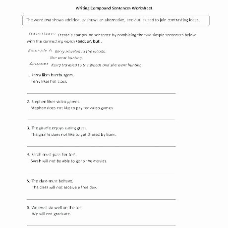Writing Simple Sentences Worksheets Writing Plete Sentences Worksheets 4th Grade