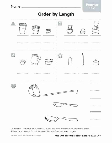 Writing Worksheet 1st Grade Free First Grade Measurement Worksheets