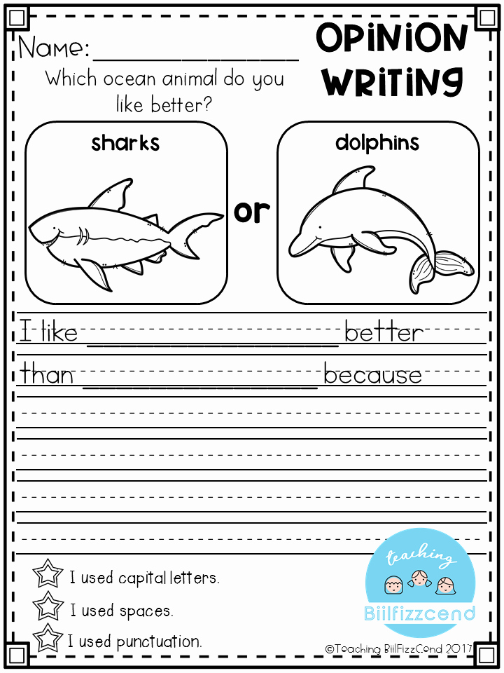 Writing Worksheet 1st Grade Writing Prompts Opinion Writing & Picture Prompts the