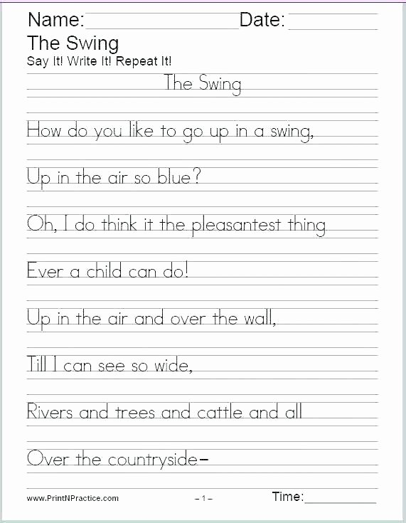 Writing Worksheet 2nd Grade Practice Writing Worksheets for 2nd Grade Check Students How