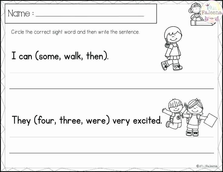 Writing Worksheets First Grade 1st Grade Sight Words Printables Worksheets