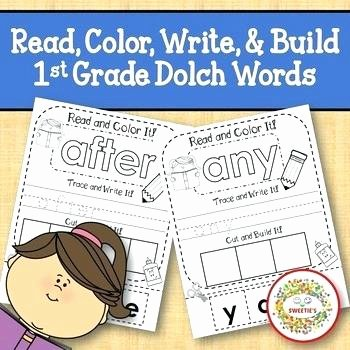 Writing Worksheets First Grade Read Trace Write Worksheets