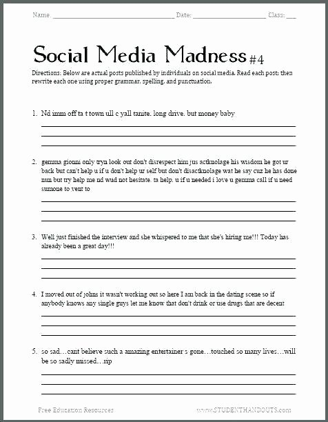 Writing Worksheets for 5th Grade Free Printable Bio Poem Worksheet Write E About Yourself A