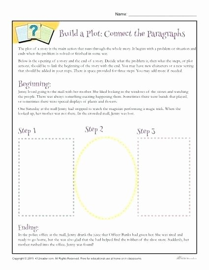 Writing Worksheets for 5th Grade Story Plot Worksheets 3rd Grade