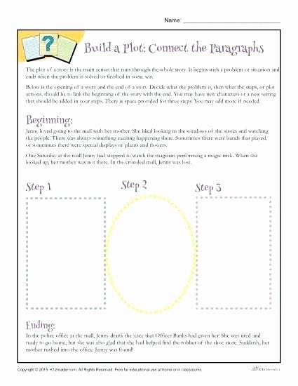 Writing Worksheets for 5th Grade Story Plot Worksheets 3rd Grade