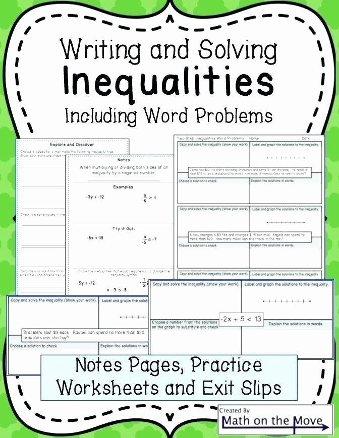 Writing Worksheets for 7th Grade 7th Grade Graphing Worksheets Writing Inequalities From Word