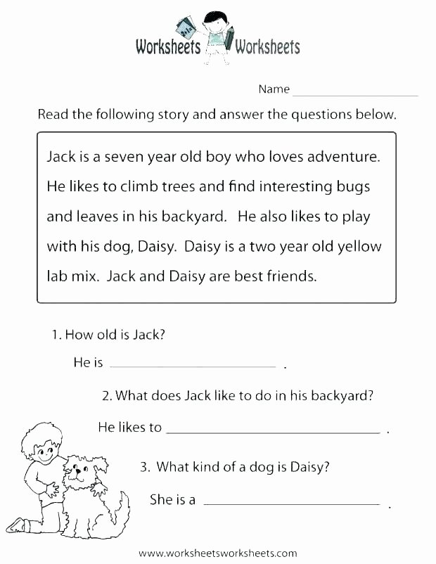 Writing Worksheets for 7th Grade Grade Reading Prehension Reading Prehension Free