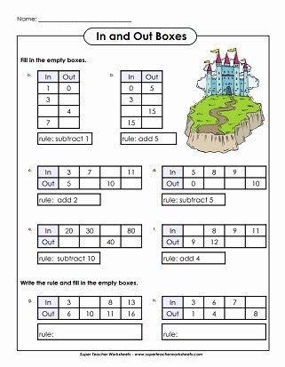 Www Superteacherworksheets Com Login Input Output Boxes
